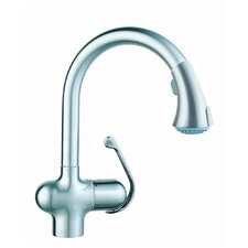 <strong>Grohe</strong> One Handle Single Hole Hot Water Dispenser Kitchen Faucet with Watercare
