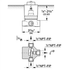 3-Port Diverter / Transfer Rough-In Valve