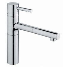 <strong>Grohe</strong> Essence Low Profile Single Handle Single Hole Kitchen Faucet with Pull Out Spray
