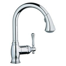 <strong>Grohe</strong> Bridgeford High Profile One Handle Single Hole Kitchen Faucet with Pull Down Spray and WaterCare