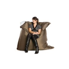 Deluxe Two Tone Beanbag in Brown/Beige