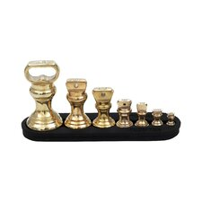 Bell Imperial Weights with Stand in Brass