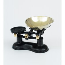 Scale and Pear Shaped Brass Pan in Black