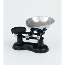 Scale with Chromed Brass Pan in Black