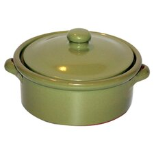 Non Stick Terracotta Dish in Olive Green