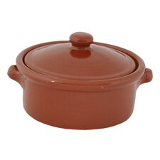Terracotta Pottery Casserole with Lid