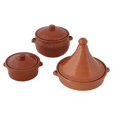 Terracotta Pottery 3 Piece Cookware Set