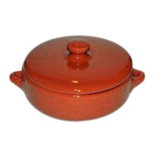 Non Stick Natural Terracotta Deep Dish with Lid (Set of 2)