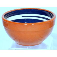 Terracotta Pudding Bowl in Blue / Cream