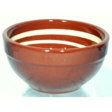 Terracotta Pudding Bowl in Brown / Cream