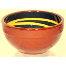 Terracotta Pudding Bowl in Green / Yellow