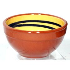 Terracotta Pudding Bowl in Yellow / Green