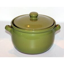 Non Stick Terracotta Pot in Olive Green