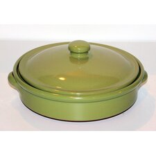 25cm Non Stick Round Terracotta Pancake Dish in Cream