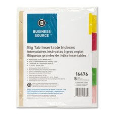 "Index Dividers, 8-Tab, 11""x8-1/2"", White Stock/Multi Tabs"