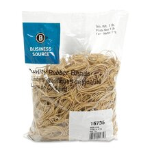 <strong>Business Source</strong> Rubber Bands, Size 18, 1 lb Bag, Natural Crepe