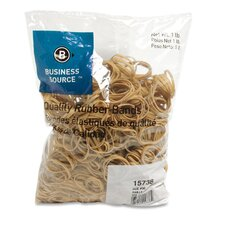 Rubber Bands, Size 30, 1 lb Bag, Natural Crepe