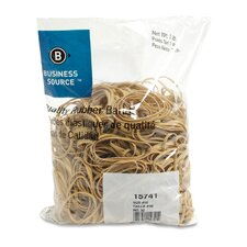 <strong>Business Source</strong> Rubber Bands, Size 32, 1 lb Bag, Natural Crepe