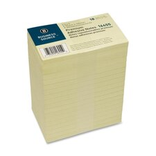 "<strong>Business Source</strong> Adhesive Note Pads, Pop-up, 3""x5"", 100 Sheets, 18 per Pack, Yellow"