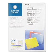 <strong>Business Source</strong> Label, File Folder, Laser/Inkjet, 750 per Pack, Assorted