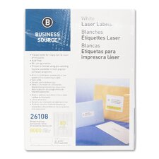 "Mailing Labels,Return Address,Laser,1/2""x1-3/4"",8000 per Pack,White"