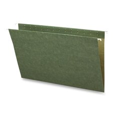 Hanging Folders, w/o Tabs, Legal, 25 per Box, Green