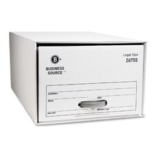 Storage DraWhiter, Legal, White, 6-Pack