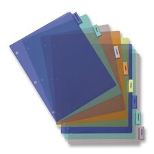 Poly Index Dividers, Inserts, 8-Tab, Multi
