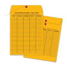 "Envelopes, Interdepartmental, Two-sided, 10""x13"", 100 Count, Kraft"