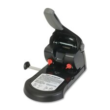 "Two-Hole Punch, 65 Sheet Capacity, 1/4"", Black/Gray"