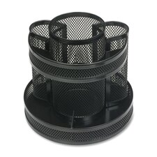 "<strong>Business Source</strong> Rotary Organizer, Mesh, 6-5/8""x6-5/8""x6-5/8"", Black"
