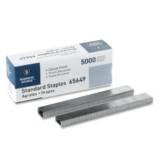 "<strong>Business Source</strong> Standard Staples,Chisel Point,1/2"" W,1/4""L,210 Strip"