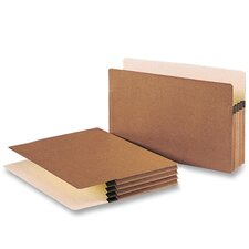 "File Pocket, 3-1/2"" Exp., Legal, 25 per Box, Redrope"