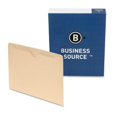 "<strong>Business Source</strong> File Pocket,Straight Cut Tab,1/2"" Tab,Letter,100 per Box,Manila"
