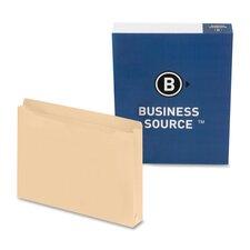 "File Pocket,Straight Cut Tab, 1-1/2"" Exp., Letter, 50 per Box, Manila"