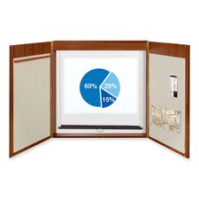 "4-in-1 Presentation Conference Cabinet 3' 11.25"" x 3"" 11.25"" Bulletin Board"