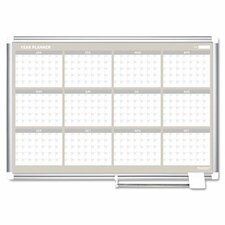 Mastervision 12 Month Year Planner 2' x 3'  Whiteboard