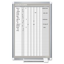 In/Out Planner 3' x 2' Whiteboard
