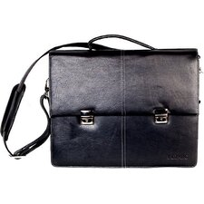 Compact Leather Laptop Briefcase