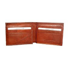 Leather Bifold Wallet with Five Extra Credit Card Sections
