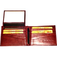 Leather Bifold Wallet with Twelve Credit Card Pockets