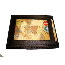 Leather Bifold Money Clip Wallet