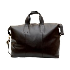 "Leather 24"" Travel Duffel Bag"