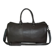 "Pebble Grain 20"" Leather Travel Duffel Bag"