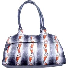 Genuine Leather Dr. Style Printed Handbag