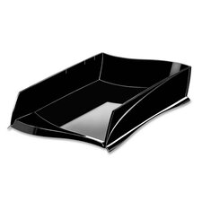 "Letter Tray, Stackable, 15""x10-4/5""x3-1/5"", Black"