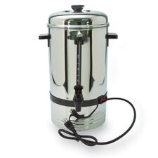 "<strong>CoffeePro</strong> 36 Cup Urn, High-Capacity, 11""x11""x18"", Stainless Steel"