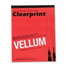 "Translucent Vellum, 16 lb., 8-1/2""x11"", 50 Sheets, Translucent"