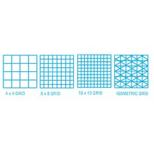 1000H Series Vellum Isometric Grid Sheet (Set of 10)