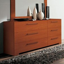 Wynd 6 Drawer Double Dresser with Mirror